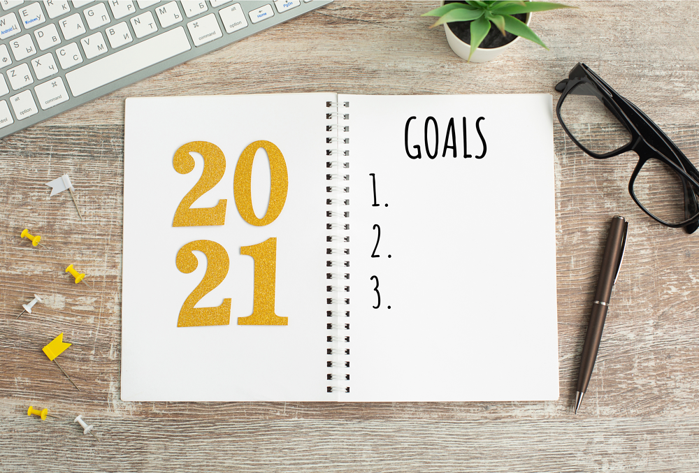 Agenda 2021 para escribir todos tus sueños y planes del año en Inglés